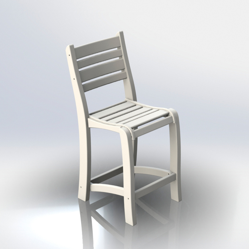 #2100 25″ Balcony Chair Armless