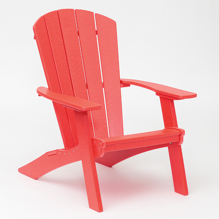 bright red adirondack chair