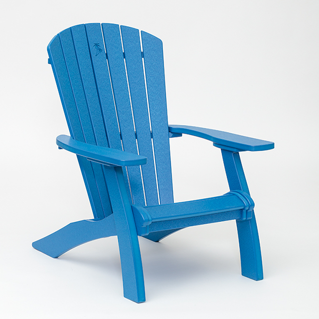 electric blue adirondack chair