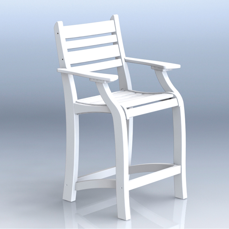 #2101 25″ Balcony Chair w/Arms