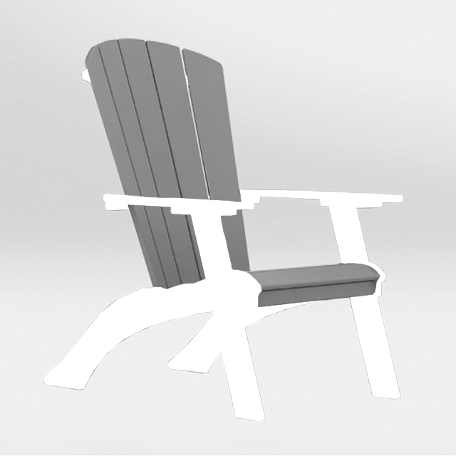 raise polywood adirondack chair with mask