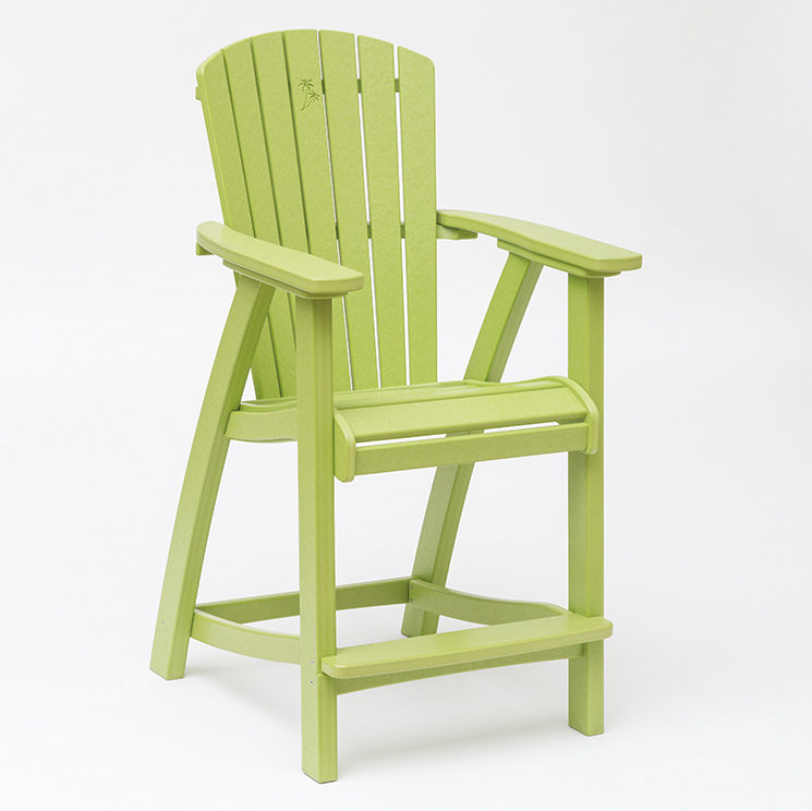 bright green patio 25 inch balcony chair
