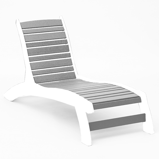 gray chaise lounge that is armless mask