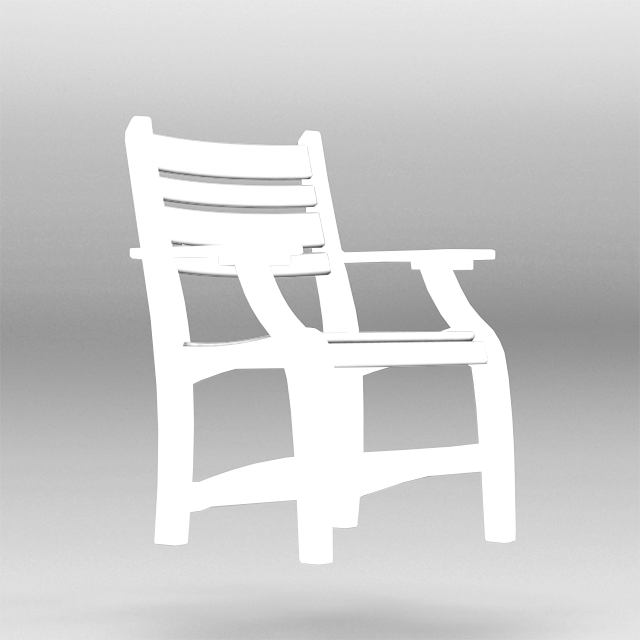mock up of cad dining chair with arms