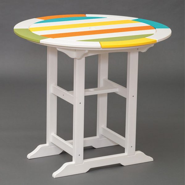 multicolored polywood patio table in pa